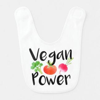 """Het babyslab van de veganist """"van de Macht"""" Baby Slabbetje"""