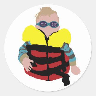 het babysticker van de bootjongen ronde stickers