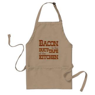 Het bacon is de buisband van de Keuken Standaard Schort