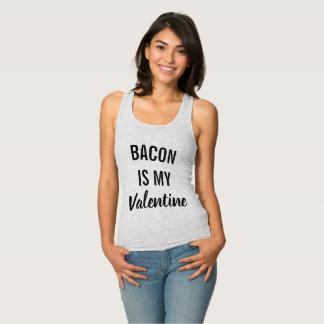 Het bacon is Mijn Valentijn Tanktop