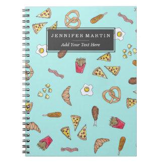 Het Bacon van de Gebraden gerechten van de Pizza Notitieboek