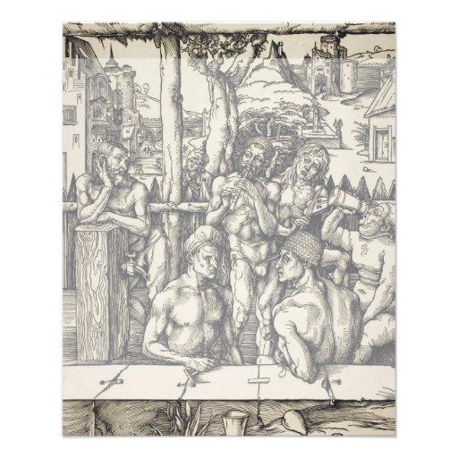 Het bad van het Mannen door Albrecht Durer Fullcolor Folder