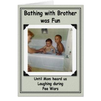 Het baden de Verjaardag van Broers Kaart