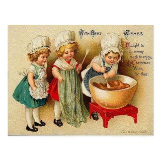 Het bakken van een Vintage Briefkaart van de