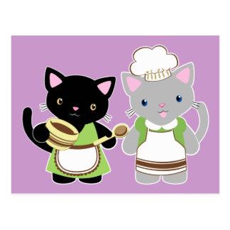 Het bakselkatten van de jojo en van Suki Neko Briefkaart