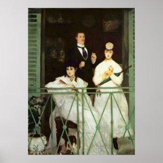 Het balkon - Edouard Manet Poster