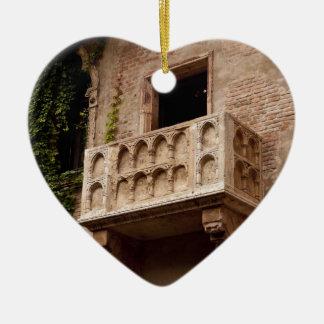 Het Balkon van Juliet Keramisch Hart Ornament
