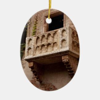 Het Balkon van Juliet Keramisch Ovaal Ornament