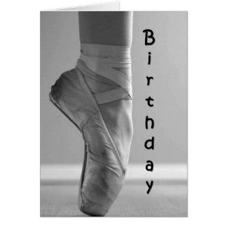 HET BALLET STIJL-DANCE/ENJOY VAN DE VERJAARDAG WENSKAART