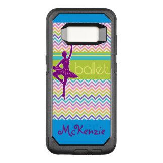 Het Ballet van de zigzag OtterBox Commuter Samsung Galaxy S8 Hoesje