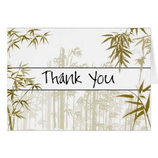 Het bamboe dankt u kaardt briefkaarten 0