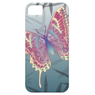 Het Bamboe van de vlinder verlaat Blauw Uniek Barely There iPhone 5 Hoesje