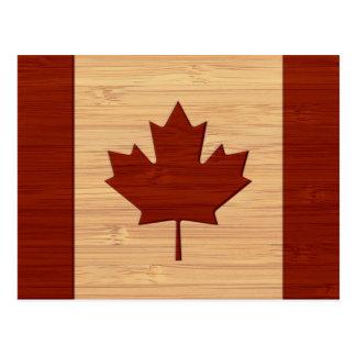 Het bamboe ziet & de Gegraveerde Vintage Vlag van Briefkaart