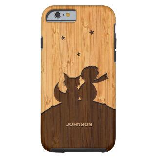 Het bamboe ziet eruit & graveerde Weinig Patroon Tough iPhone 6 Hoesje