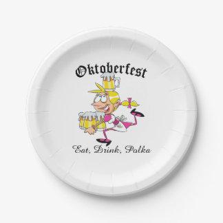 Het Barmeisje van Oktoberfest Papieren Bordje
