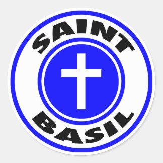 Het Basilicum van heilige Ronde Stickers