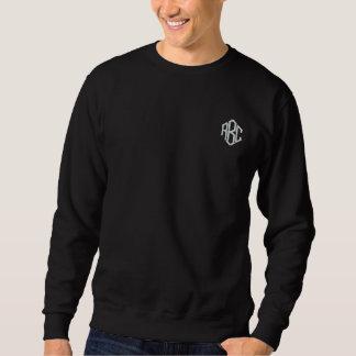 Het basis Zwarte Geborduurde Monogram van het Geborduurde Sweater