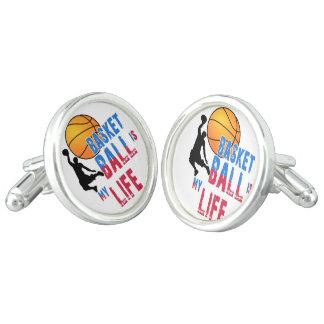 Het basketbal is mijn leven manchetknopen