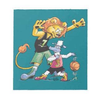 Het Basketbal van de leeuw en van Schapen Notitieblokken