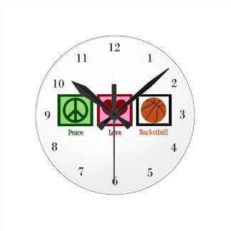 Het Basketbal van de Liefde van de vrede Ronde Klok