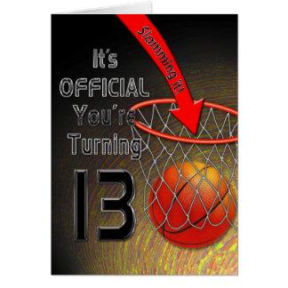 Het Basketbal van de VERJAARDAG - dertiende Briefkaarten 0