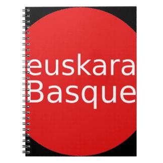 Het Baskische Ontwerp van de Taal Notitieboek