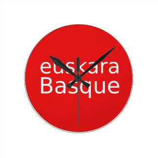 Het Baskische Ontwerp van de Taal Ronde Klok