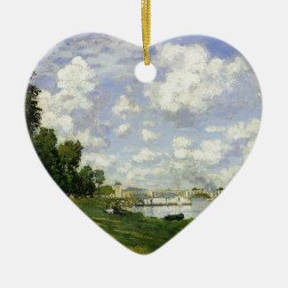 Het bassin in Argenteuil - Claude Monet Keramisch Hart Ornament
