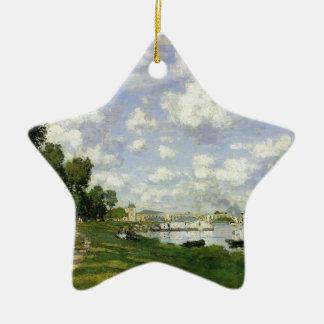Het bassin in Argenteuil - Claude Monet Keramisch Ster Ornament