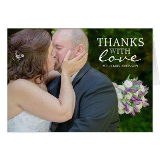 Het bedankt met de Foto van de Liefde dankt u Briefkaarten 0