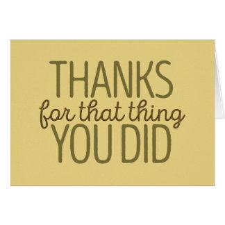 Het bedankt voor dat ding u kaardde Groen/Gele | Notitiekaart