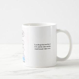 Het bedelen bij posten koffiemok