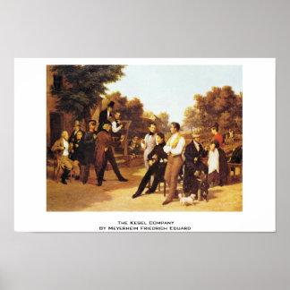 Het bedrijf Kegel door Meyerheim Friedrich Eduard Poster