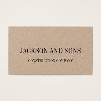 Het bedrijf minimalistisch visitekaartje van de visitekaartjes