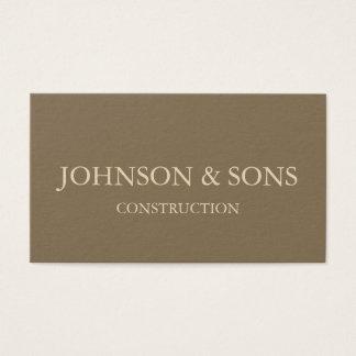 Het bedrijfvisitekaartje van de bouw visitekaartjes