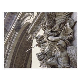 Het beeldhouwwerk van de hulp op Arc DE Triomphe Briefkaart