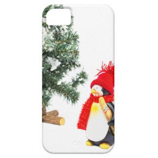 Het beeldje van de pinguïn met skis en barely there iPhone 5 hoesje
