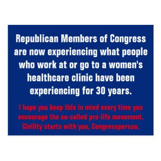 Het Begin van de beleefdheid met GOP Briefkaart