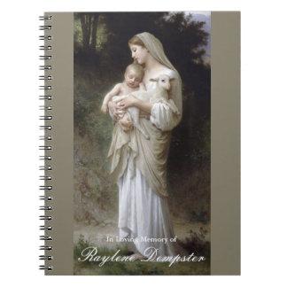 Het begrafenis HerdenkingsBoek Mary Innocence van Ringband Notitieboek