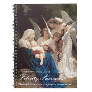 Het begrafenis HerdenkingsBoek Mary Song van de Ringband Notitieboek
