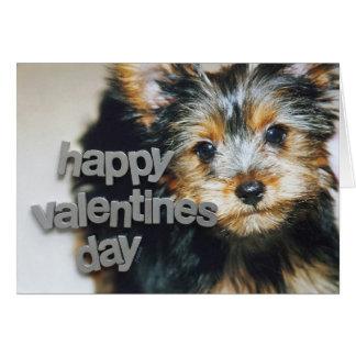 Het Begroeten van Yorkshire Terrier Valentijn Kaart