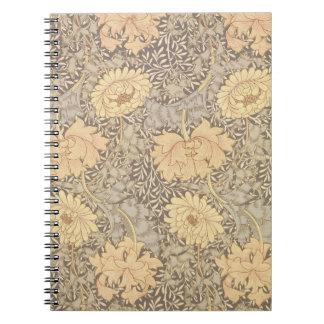 """Het behangontwerp van de """"chrysant"""", 1876 notitieboek"""
