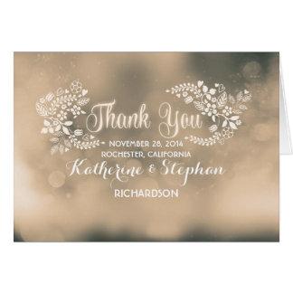 het beige fancy bloemenhartenhuwelijk dankt u briefkaarten 0