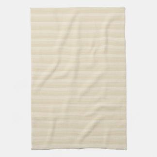 Het beige Tan Patroon van de Streep van de Kleur Theedoek