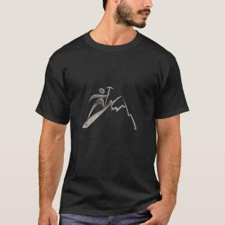 Het Beklimmen van de berg; Koele Zwarte T Shirt