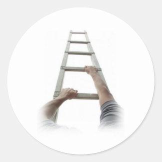 Het beklimmen van de Ladder van Jacob Ronde Sticker