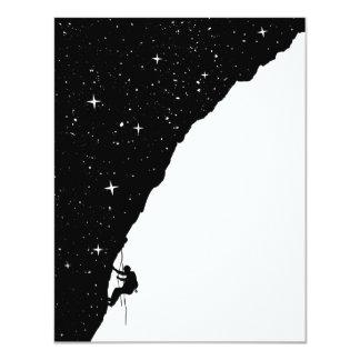 Het beklimmen van de nacht 10,8x13,9 uitnodiging kaart