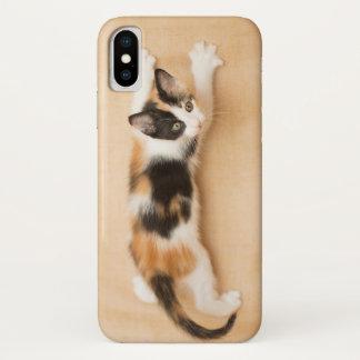 Het beklimmen van het Katje van het Calico iPhone X Hoesje