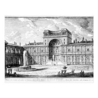 Het Belvedere Hof in het Vatikaan Rome Briefkaart