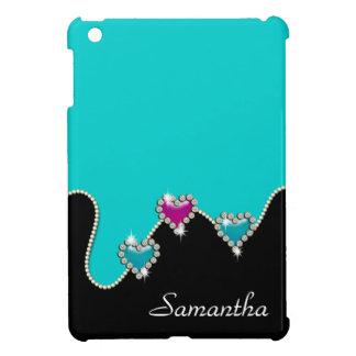 Het bergkristal van het hart schittert meisjesnaam iPad mini cases
